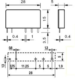 34.51.7.024.4010 Finder Print Relais 24V DC 1xUM 6A AgSnO2