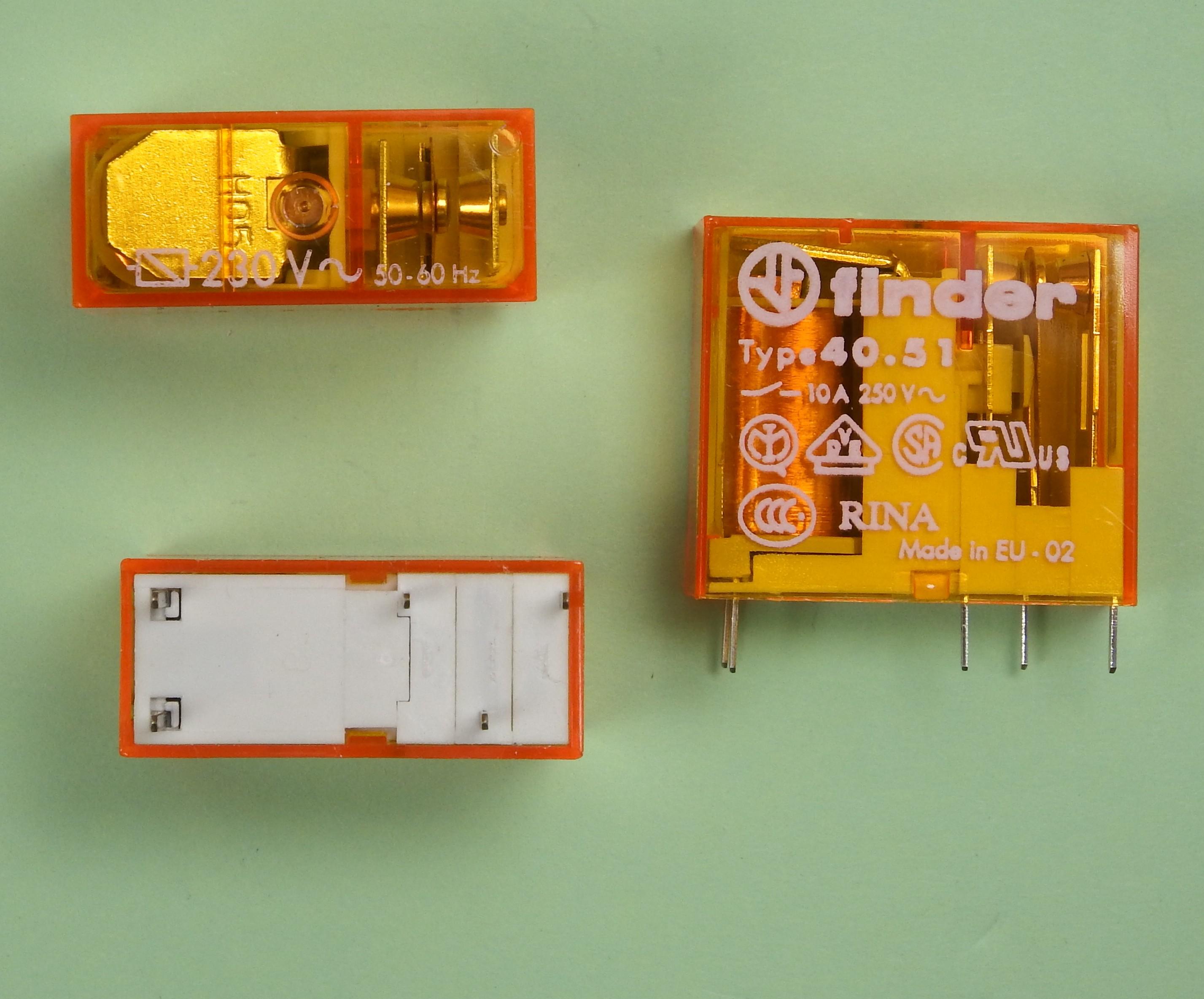 40.51.8.230.0000 Finder Steck-//Print Relais 1xUm  230V AC 10Ampere