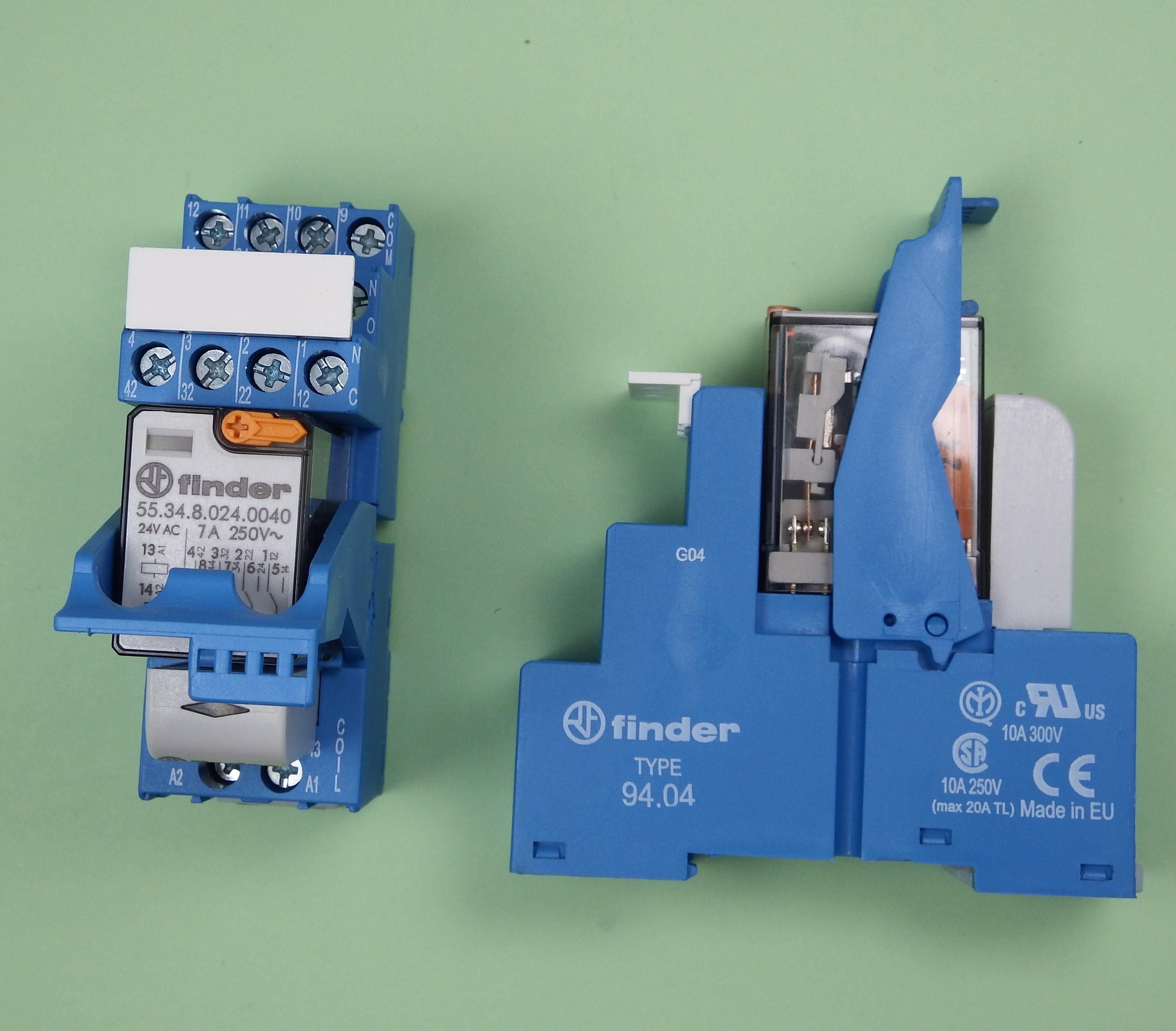 Finder Industrie Koppel Relais 24V AC 4 Wechsler 7A 58.34.8.024.0060 K
