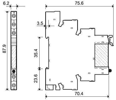 93.01.7.024 Finder Fassung blau für Relais 5-24V DC der Serie 34.....
